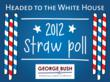 Headed to the White House 2012 Straw Poll graphic