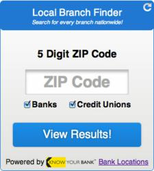 Local Branch Finder widget from Knowyourbank.com