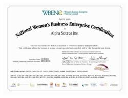 Alpha Source WBENC certification