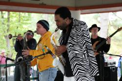 Musicians perform at the Highland Jazz and Blues Festival in Shreveport, Louisiana.