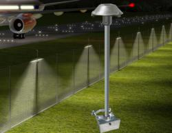 Typical application of the CAST Lighting Defense and Security LED Perimeter Light (CPL1)