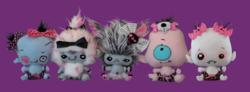 From left, Zombie Baby, Abominable Snow Baby,Werewolf Baby, Cyclops Baby and Vampire Baby.