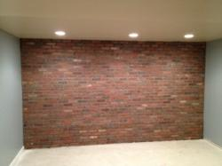 Customer image of completed thin brick installation