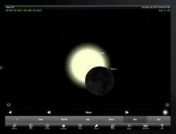 May 20th, 2012 solar eclipse simulated by SkySafari 3.5 Plus on an iPad