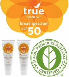 True Natural Sunscreens Now Certified by the Natural Products Association