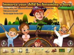 free ebook, e-book for kids, interactive, edutainment, peter pan