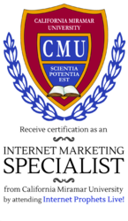 Earn an Internet Marketing Specialist Certificate from California Miramar University