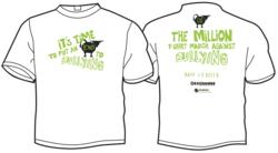The Million T-Shirt March 2012 Official Shirts, worn by students, parents, teachers and concerned citizens across the US on May 17, 2012.