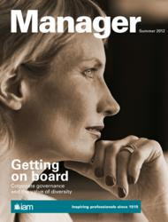 Front cover of the new look Manager magazine