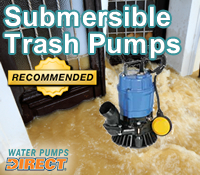 submersible trash pump, submersible trash pumps