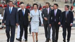 HRH the Princess Royal receives Olympic Flame at Athens Ceremony