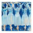 Serenade, Four Dancers, 48 x 48 inches, oil by Rachel Isadora