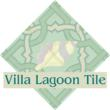 A cement tile used as logo for Villa Lagoon Tile