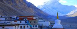 View of Everest from Rongbuk Monastery