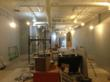 This is an interior photo of the Baltimore barber shop, Royal Razor, during construction.