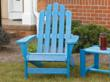 Resin Adirondack chair