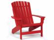 Red Adirondack chair