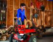 10-Ton Electric Dual Action Wood Log Splitter Makes Easy Work of Hardwoods. DR Power Equipment.