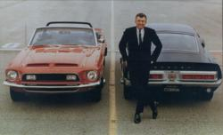 Caroll Shelby With His 1968 Cobra GT Prototypes (circa April 1967)