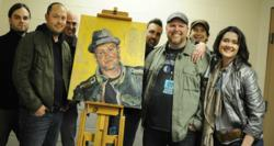 Bart Millard, Lead singer with his Bestselling Christian Rock band MercyMe (I Can Only Imagine), Robbi Firestone and Bart's Spirit Capture oil portrait.