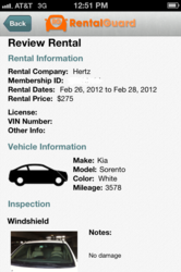 Rental Summary Screen