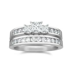 1 Carat Wedding Ring Set available at discount and inexpensive price at JewelOcean.com