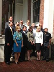 Today, solar industry and Maryland state representatives assembled for Gov. O'Malley's bill signing ceremony; the bill adjusts the solar RPS to prevent stalled growth. Front row (L to R): Sen. Rob Garagiola, Del. Sally Jameson, Del. Steve Hershey, Del. Je