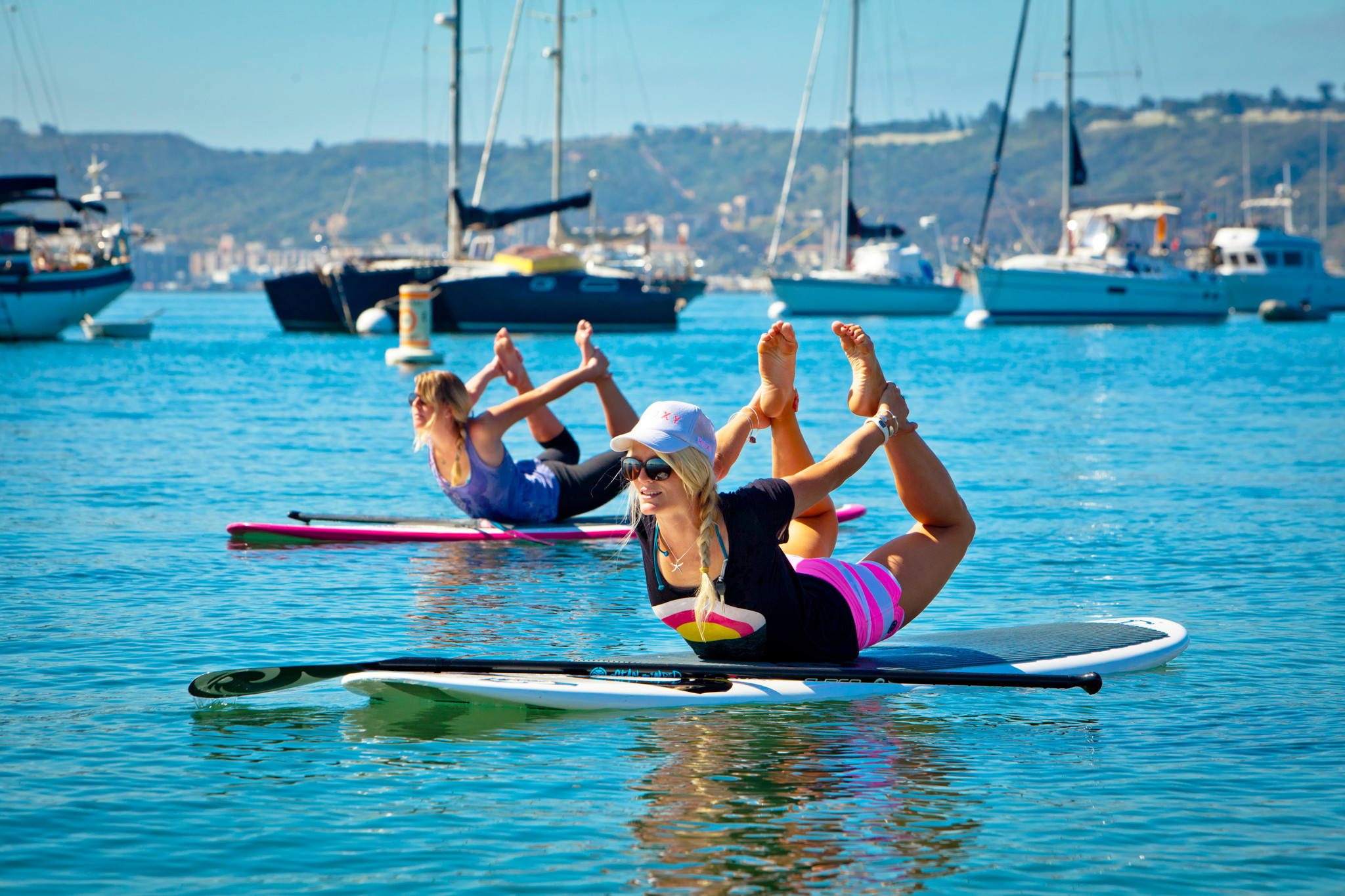 paddle into fitness announces stand up paddleboard yoga. Black Bedroom Furniture Sets. Home Design Ideas