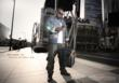 American Idol drummer Rex Hardy Jr. with his Gruv Gear Stadium Bag at Nokia Theater, Los Angeles CA