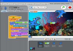 Student programmers make animations on social platform Radiowaves
