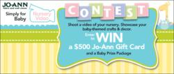 Submit a video of your handcrafted nursery items to win a $500 Jo-Ann gift card in the Simply for Baby Nursery Video Contest