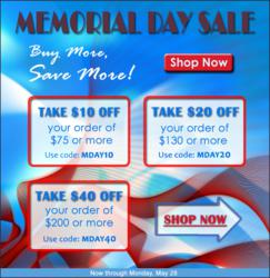 Take advantage of TigerChef's Memorial Day Sale: Stock up on Restaurant Equipment and Kitchen Supplies