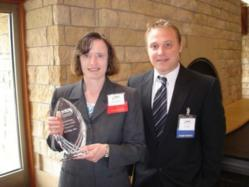 Jet Edge chamber award with 21st Century Bank