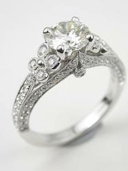 Dramatic Diamond Engagement Ring from Topazery