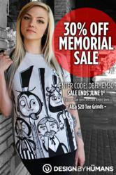 30% off Memorial T Shirt Coupon