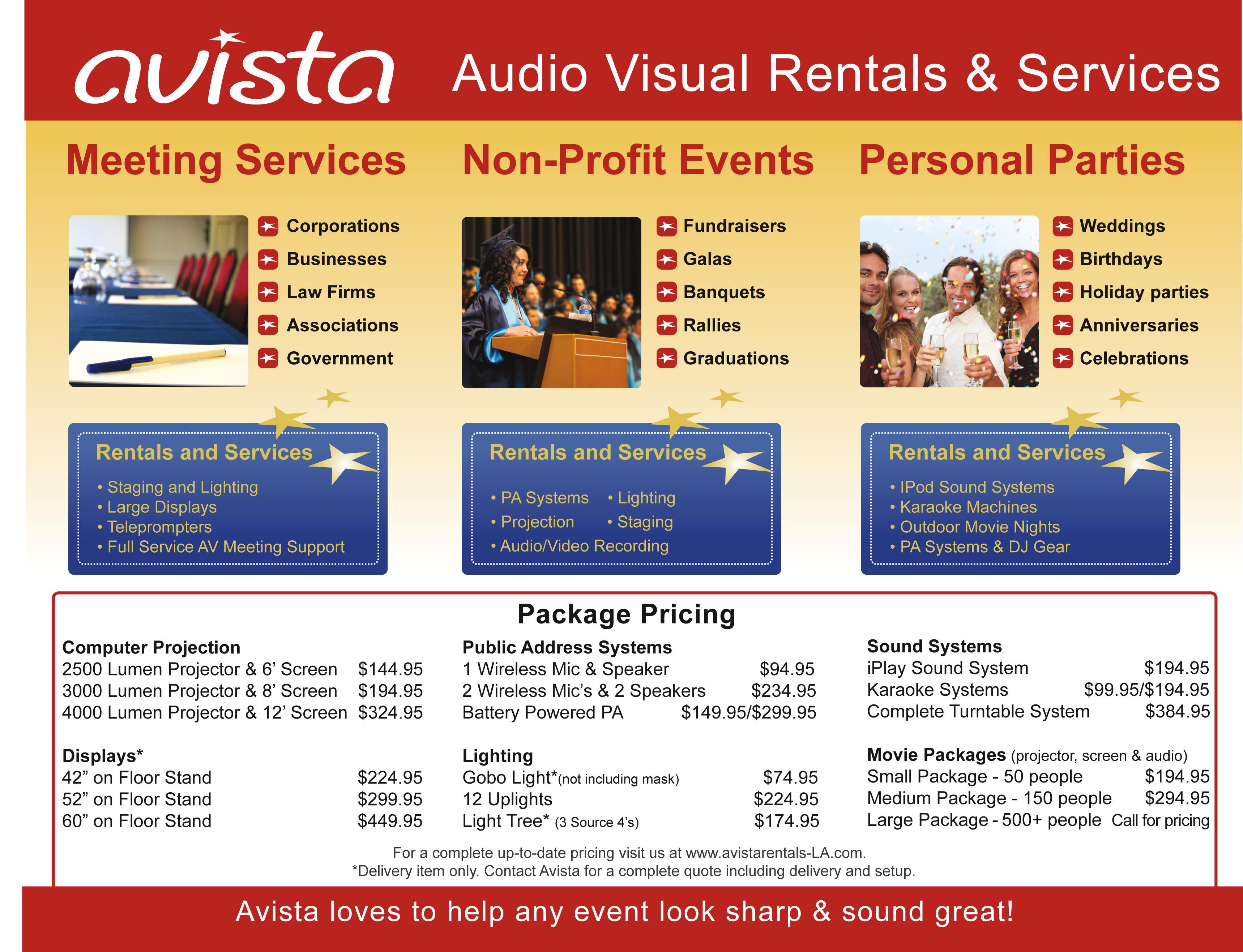 avista audio visual rentals attributes rapid growth to stellar customer service and 5 star yelp. Black Bedroom Furniture Sets. Home Design Ideas