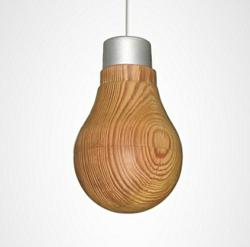 Wood Covered LED Light Bulb