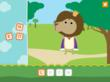 The letter game is one of four activites featured in the Kandoobi Animales app.