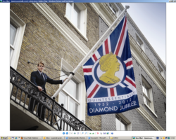 Ben Elliot, Co-founder of Quintessentially Lifestyle with Quintessentially's Jubilee Flag