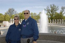 FMCA member couple at National World War Memorial