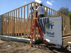 Volunteers working on a Twin Cities Habitat home in Savage, MN