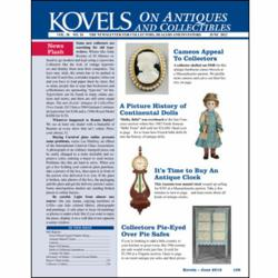 antiques, collectibles, prices, kovels, dolls, silver, jewelry, furniture, clocks, bottles
