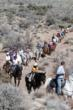 Horseback tour group
