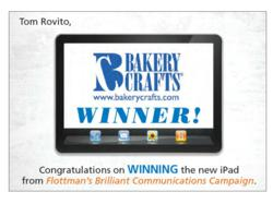 Tom Rovito WINS the Flottman Company's iPad
