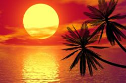 Sunset In The Caribbean Islands