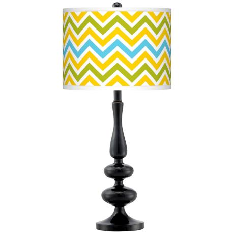 Colorful Table Lamps on Big And Bold Lamp Bases  Bright Colors  Glass Table Lamps And More Are