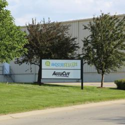 AccuQuilt's new Omaha, Neb. headquarters at 137th & Giles (near Cabela's) is located along Interstate 80, where tens of thousands of drivers annually will view the company's large outdoor barn quilt.