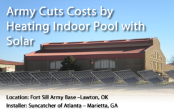 Fort Sill Military Indoor pool solar pool heater