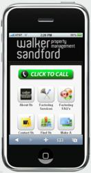 Walker Sandford's  Mobile Website on iPhone