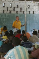 Workshop on community health and first-aid in Carrefour, Haiti.